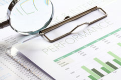 业绩分析 免版税图库摄影