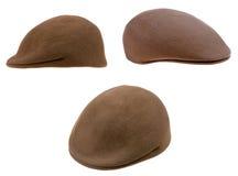 绿色毛毡供以人员盖帽 免版税图库摄影