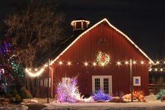 在农场的圣诞节 图库摄影