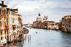 Μεγάλο κανάλι στη Βενετία, Ιταλία Στοκ Εικόνα