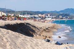 海海滩在西班牙 库存图片