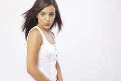 Πραγματικό όμορφο νέο κορίτσι Στοκ εικόνες με δικαίωμα ελεύθερης χρήσης