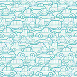 乱画汽车无缝的样式背景 免版税库存图片