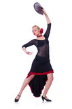 女性舞蹈家跳舞 免版税库存图片