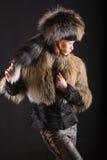σκοτεινή γούνα Στοκ εικόνες με δικαίωμα ελεύθερης χρήσης