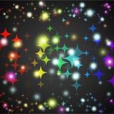 Αφηρημένη μορφή πυράκτωσης αστεριών με τα φω'τα και σκοτάδι Στοκ φωτογραφία με δικαίωμα ελεύθερης χρήσης
