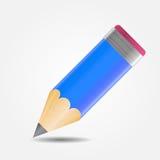 Иллюстрация вектора значка чертежа и письменных принадлежностей Стоковое Изображение RF
