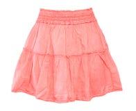 女孩的一条桃红色裙子 免版税库存照片