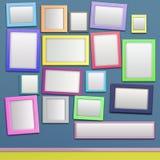 彩色照片框架 库存照片
