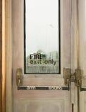 Дверь пожарного выхода Стоковая Фотография RF