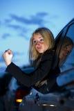 恼怒的驱动器女性 免版税库存照片