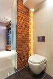 Сиденье унитаза в ванной комнате Стоковая Фотография RF