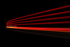 在红色和橙色的抽象汽车光 库存照片