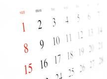 календар Стоковые Изображения