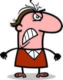 Сердитая иллюстрация шаржа человека Стоковая Фотография