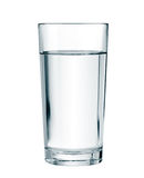 Стекло воды изолированное с путем клиппирования Стоковые Изображения RF