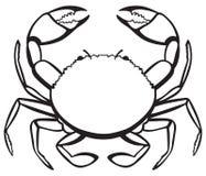 剪影螃蟹 图库摄影
