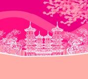 佛教禅宗寺庙 免版税库存图片