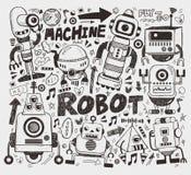 乱画机器人元素 库存照片