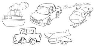 不同的种类运输 免版税库存图片