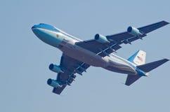 空军一号空中分列式 免版税库存照片