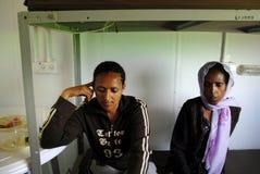 非洲难民拘留中心 库存图片