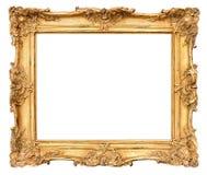 老金黄框架。葡萄酒背景 图库摄影
