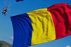 罗马尼亚旗子 免版税库存照片
