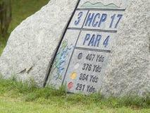 打高尔夫球符号 免版税库存图片