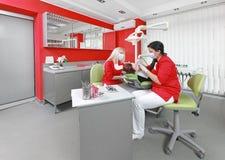 牙齿办公室 免版税库存照片