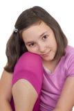 美好十几岁的女孩微笑 库存照片