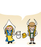 瑞典动画片夫妇泡影对话 库存图片