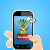 巧妙的电话翻译概念 库存图片