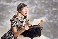 给圣诞老人的信件 库存照片
