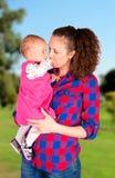 母亲和女儿时间 图库摄影