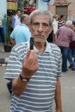 在示威者和穆斯林兄弟之间的冲突 库存照片