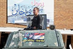 在示威者和穆斯林兄弟之间的冲突 库存图片