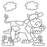 Αγελάδα - που χρωματίζει Στοκ Εικόνες