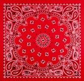 红色班丹纳花绸印刷品 库存图片