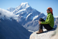 Удовольствие в горах Стоковое Изображение RF
