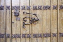 古色古香的门把手 库存照片