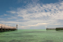Τυρκουάζ τροπικός πολυνησιακός παράδεισος Στοκ εικόνα με δικαίωμα ελεύθερης χρήσης