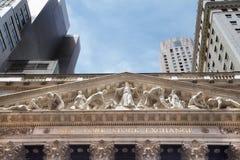 Фасад нью-йоркская биржа Стоковая Фотография RF