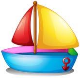 一条五颜六色的小船 库存照片