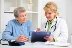 Γιατρός και ασθενής Στοκ εικόνα με δικαίωμα ελεύθερης χρήσης