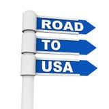 路向美国 库存照片