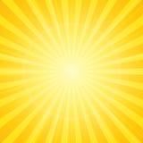 Солнце с предпосылкой лучей Стоковая Фотография RF