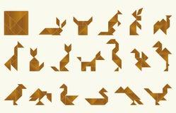 七巧板,动物区系 库存图片