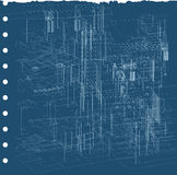 都市的图纸 免版税库存图片