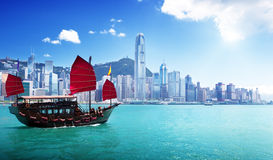 Гавань Гонконга Стоковое Фото